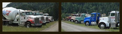 concrete and rock delivery trucks-Freeman Rock, Inc.
